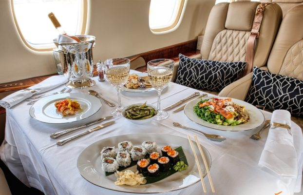 On-board Catering on a private jet